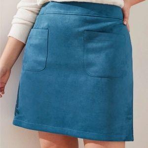 Loft Faux Suede Skirt